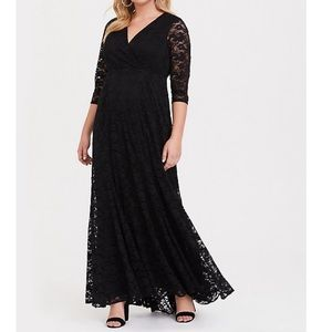 TORRID | Special Occasion Black Lace Gown NWT